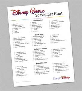 Disney World Scavenger Hunt List