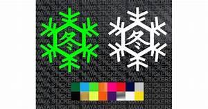 Custom Tribal Designs Kawasaki Ninja Winter Test Logo Sticker In Custom Colors