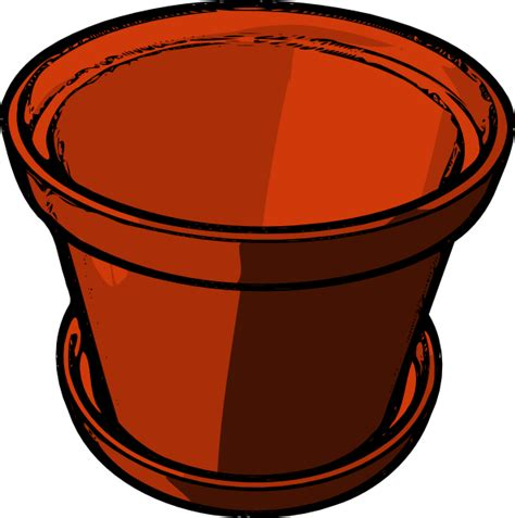 Flower Pot Clipart Empty Flowerpot Clip At Clker Vector Clip