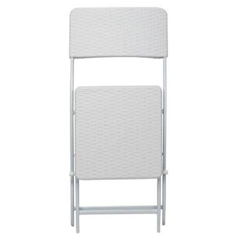 chaise pliante blanche chaise pliante imitation rotin blanche francky shop com