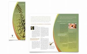 massage chiropractic tri fold brochure template design With free massage therapy brochure templates
