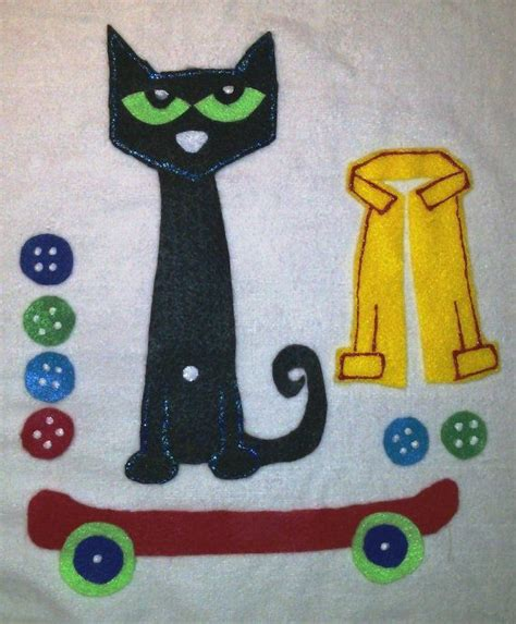 flannel felt board story pieces pete the cat and his four 644 | 741d6176f4ad836f582311d458541025