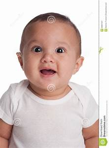 Baby Boy With A Surprised Expression Stock Photo - Image ...