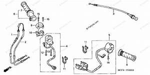 Honda Motorcycle 2000 Oem Parts Diagram For Switch    Cable