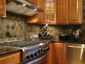 backsplashes for kitchens tumbled slate backsplash