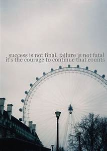 Failure is not ... Funny London Eye Quotes