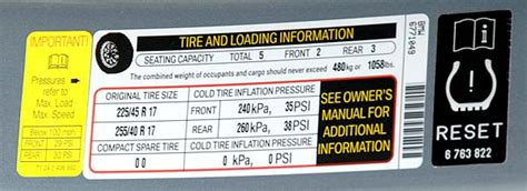 Lowest Tire Pressure For A Psi Tire Motor Vehicle