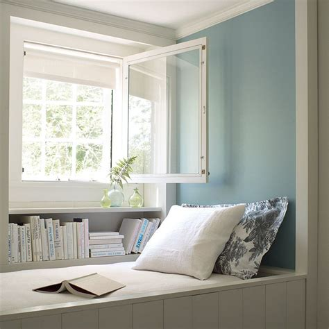 2017 color trends light blue walls open window and blue