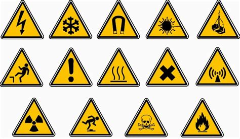 safety risks machinery labelling signs