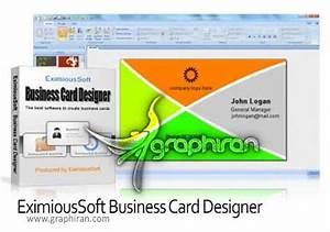 Eximioussoft business card for Eximioussoft business card designer