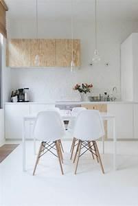 53 variantes pour les cuisines blanches With cuisine blanche et bois