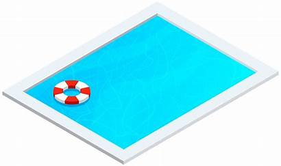 Pool Swimming Clipart Cartoon Outdoor Clip Empty