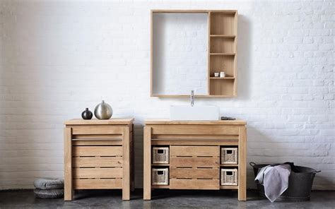 meuble salle de bain pas cher bois