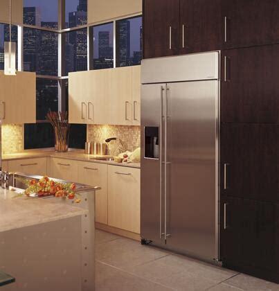 ge monogram zissdkss   stainless steel counter depth side  side refrigerator