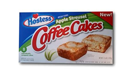 Sweet coffee cakes with a swirl of cinnamon and streusel topping Hostess Coffee Cakes One Box with 8 Snack Cakes (Apple ...