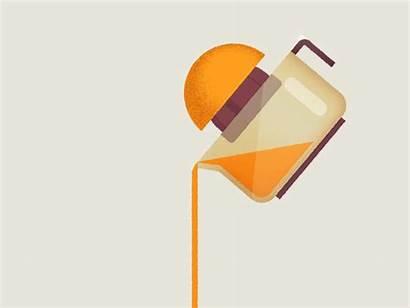Orange Juice Animation Dribbble Gifs Anime Flat