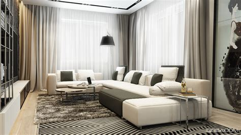 Home Interior Design Combining With Cool Wall Texture And Soft Color Palette