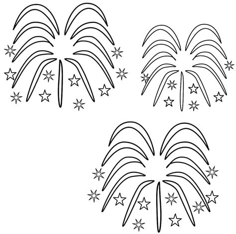 fireworks coloring page coloring page book  kids