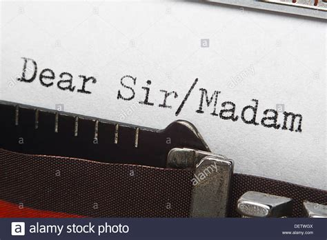 retro typewriter letter introduction  greeting dear