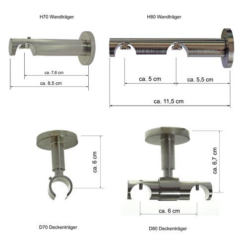 Gardinenstange Halterung Abstand by Gardinenstangentr 228 Ger F 252 R Dm 16mm Innenlaufrohr H70 H80