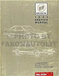 1989 Buick Lesabre Electra Park Ave Electrical Troubleshooting Manual