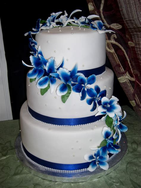 royal blue wedding cakes archives decorating of