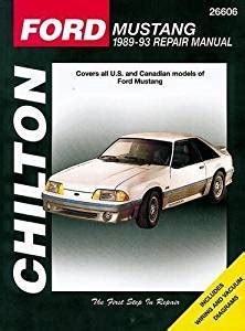 chilton car manuals free download 1993 dodge d250 club auto manual amazon com chilton ford mustang 89 93 repair manual 26606 manufacturer automotive