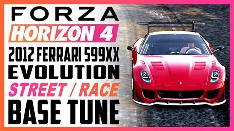 The ferrari 599xx evo is one of the fastest cars in forza horizon 4. FORZA HORIZON 4 TUNING - 2012 Ferrari 599XX Evolution X-CLASS - YouTube
