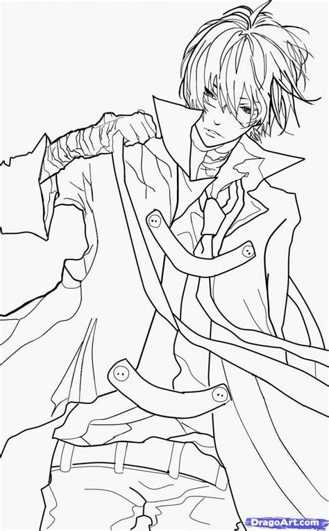 anime boys coloring pages coloring home