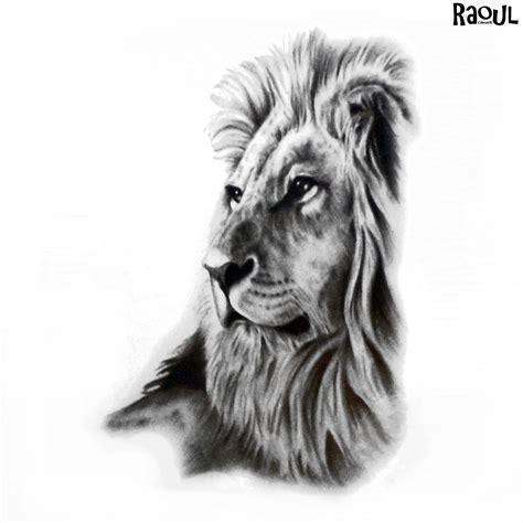 tatouage ephemere lion