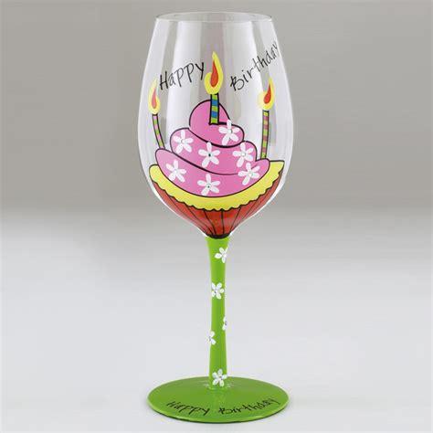 verre 224 vin fantaisie happy birthday peint sur rapid cadeau