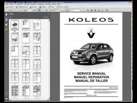 renault koleos manual de taller service manual manuel reparation youtube