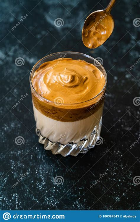 Espresso coffee made with a bean grinding coffee machine, on the strongest setting making only 40ml of coffee. Dalgona Coffee / Whipped Creamy Fluffy And Trendy / Tiktok ...