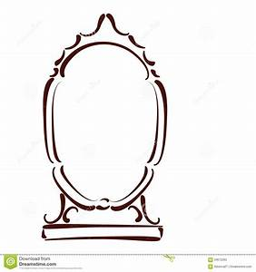 sketched mirror stock vector image 59672283 With mirror will template