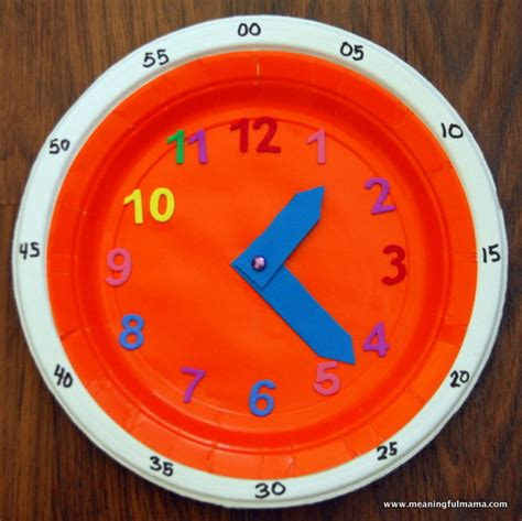 teaching time clock fun family crafts