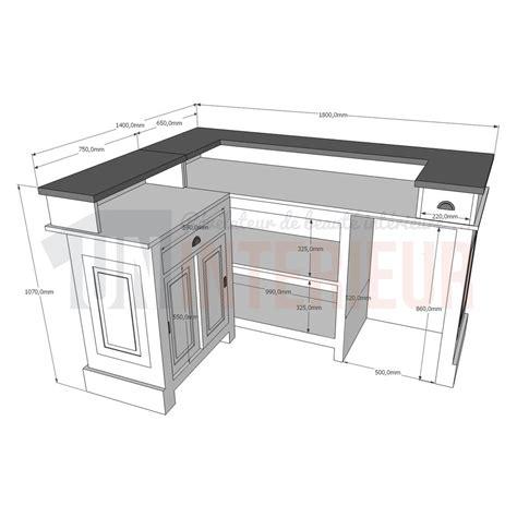 hauteur comptoir cuisine amazing cuisine hauteur d un bar comptoir de bar duangle cm x with hauteur standard comptoir