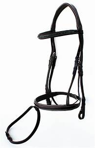 Horse English Padded Leather Show Bridle Crystal Bling ...