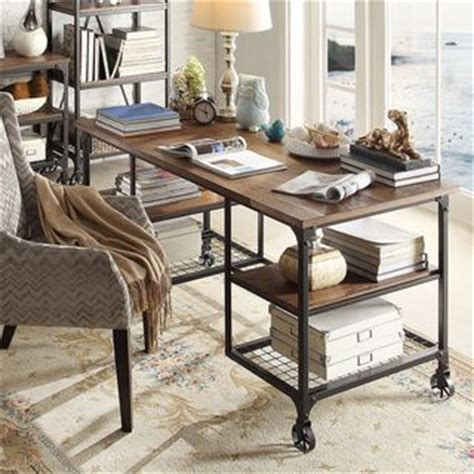 industrial style home office desk nelson industrial and great deals on pinterest
