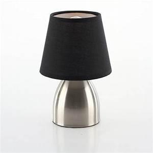 Lampe De Chevet Noir : lampe de chevet touch abat jour noir achat vente lampe de chevet touch abat m tal cdiscount ~ Teatrodelosmanantiales.com Idées de Décoration