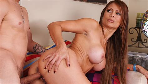 Milf Monique Fuentes Fucking In The Couch With Her Tits