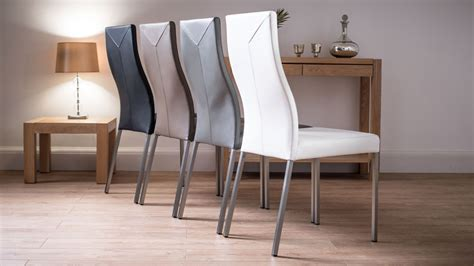 Modern Real Leather Dining Chairs What Kind Of Fabric For Dining Room Chairs Install Chair Rail Bar Height Office Floor Mat Bistro Folding Table And Costco Recliner White Resin Cosco Retro With Step Stool