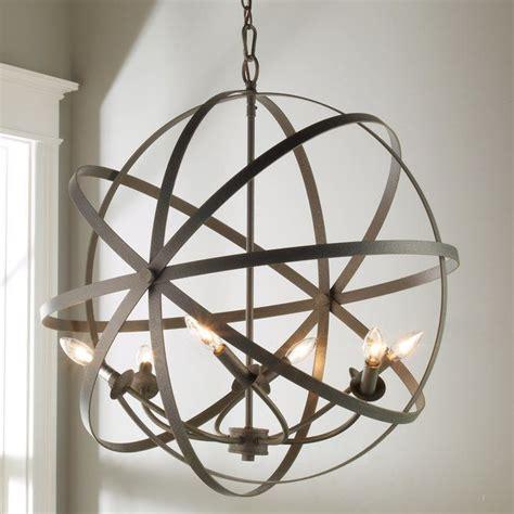 Wood Orbit Chandelier by Zinc Orbit Globe Chandelier 6 Light Kitchen Globe