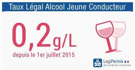 alcool conducteur taux alcool 233 mie conducteur en permis probatoire legipermis