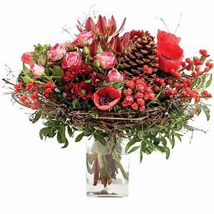 Bouquet De Fleurs Interflora : bouquet de saison aux couleurs traditionnelles de no l fleurs de no l interflora ~ Melissatoandfro.com Idées de Décoration