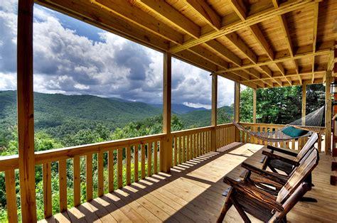 deck porch    clouds cabin blue ridge ga