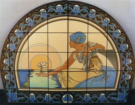 murals nouveau maiden setting the sun mural 56x44