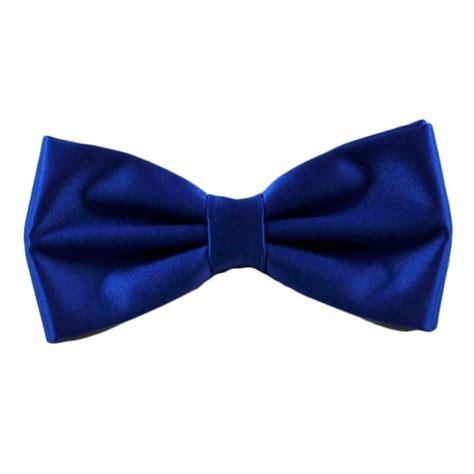 plain royal blue bow tie  ties planet uk