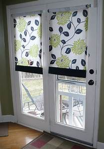 Diy door curtains to creative thriftiness diy roll for How to make roll up curtains