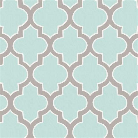 modern baby nursery bedding mint and taupe quatrefoil fabric by the yard