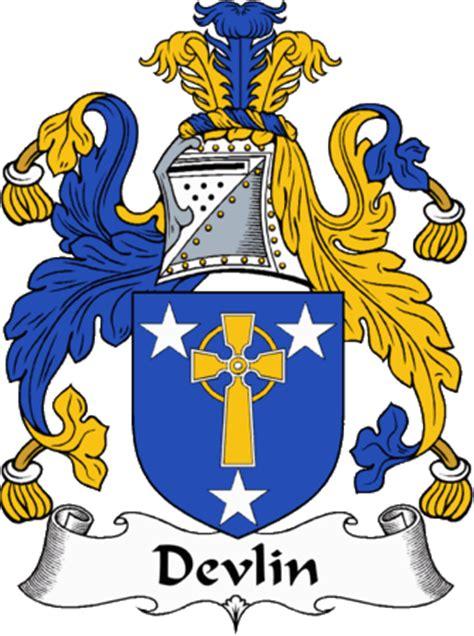 irishgathering  devlin clan coat  arms family